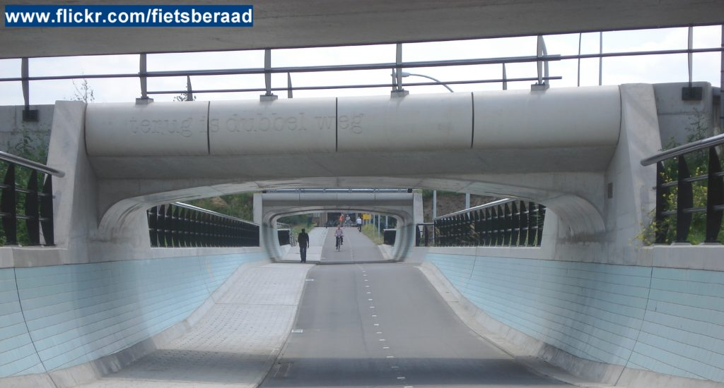 Examples of successful cycling infrastructure: bicycle tunnels