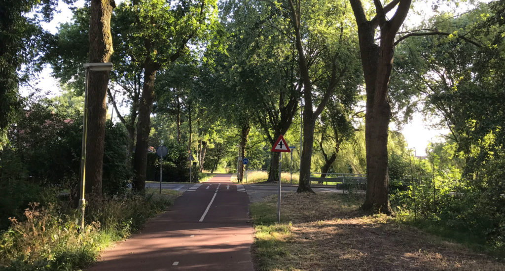 Examples of successful cycling infrastructure: the Moerenpad access road in Breda