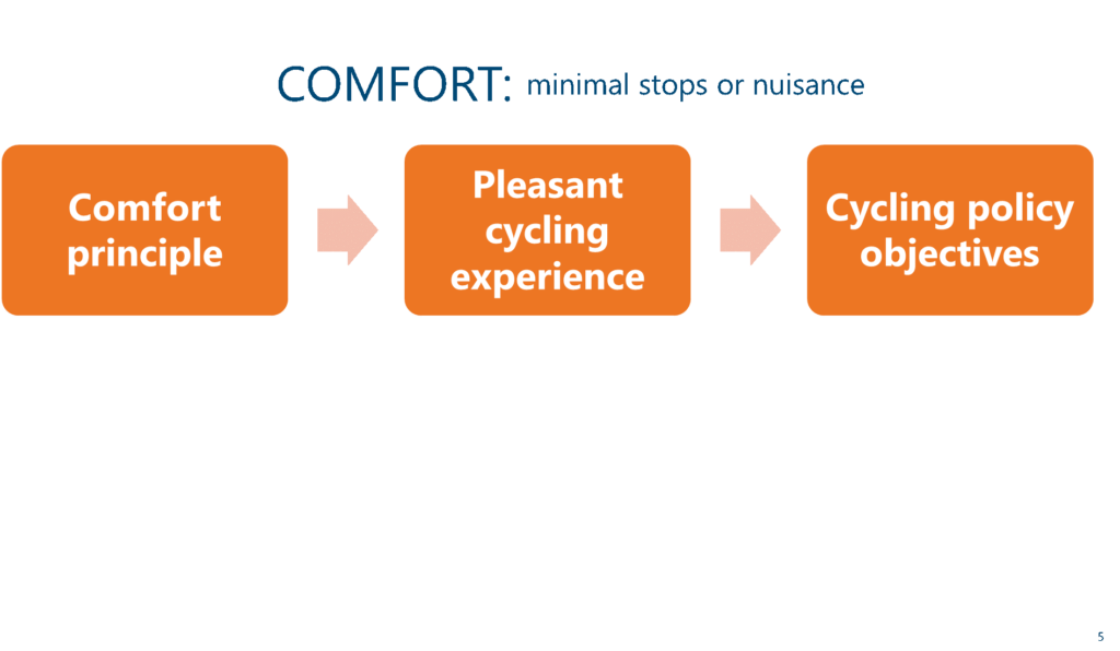 Designing Bicycle Infrastructure - Comfort