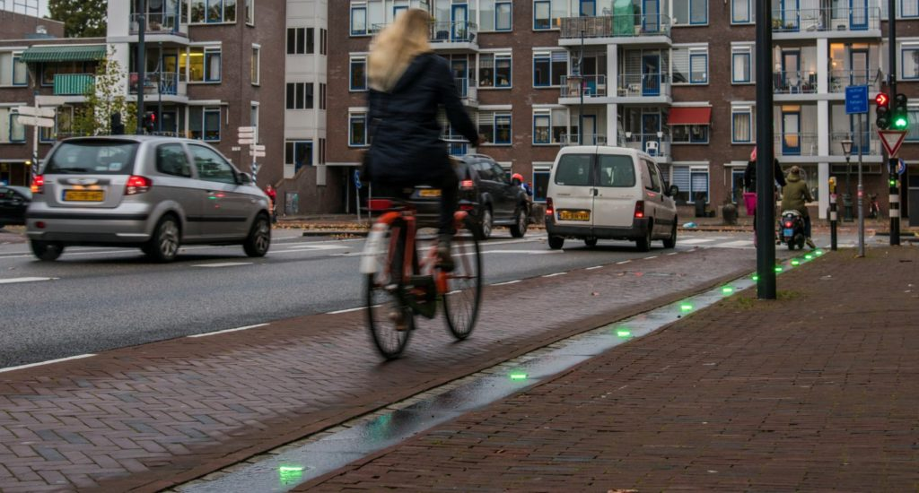Happy cyclists in Leiden: the Follow Green pilot project